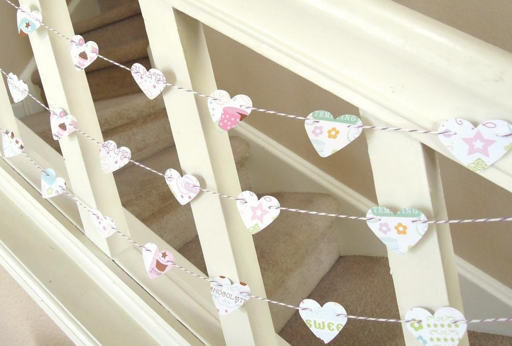 Sweet Birthday Heart Garland - 3 yards